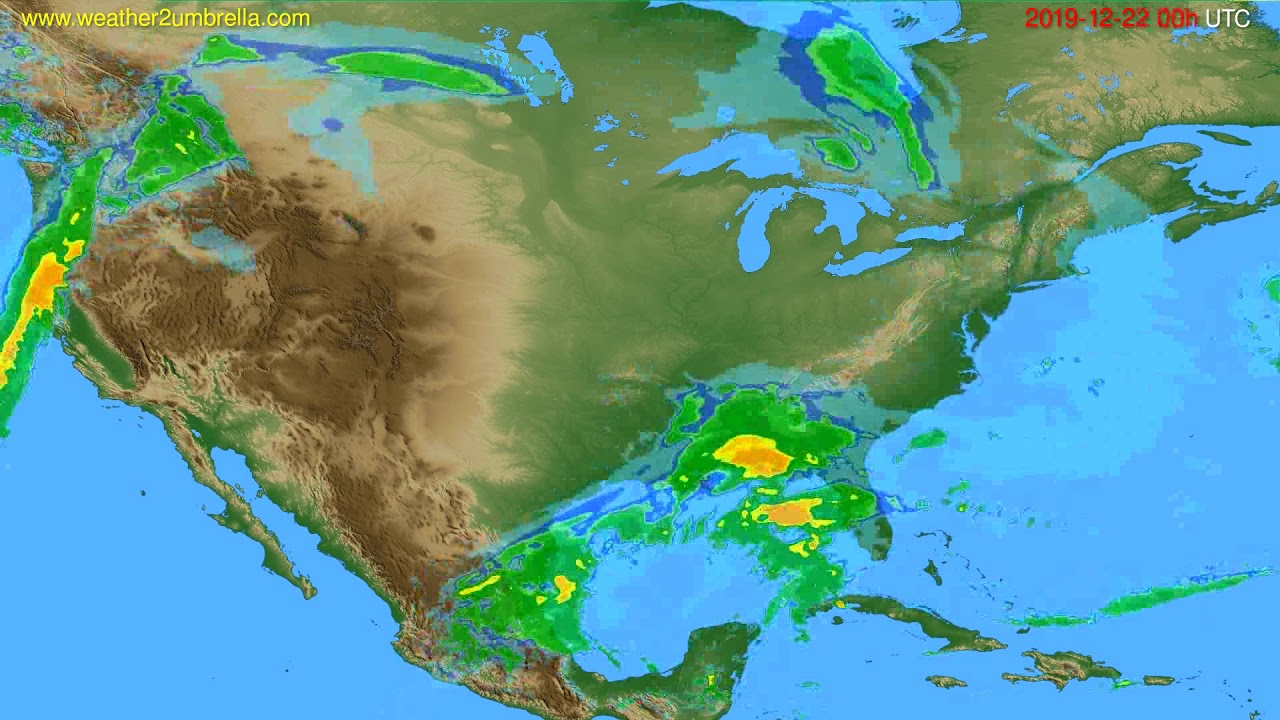 Radar forecast USA & Canada // modelrun: 12h UTC 2019-12-21