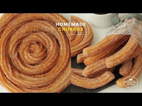 바삭바삭! ๑❛ڡ❛๑ 츄러스 만들기 : Homemade Churros Recipe : チュロス   Cooking tree