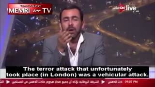 An Egyptian commentator talking about muslims