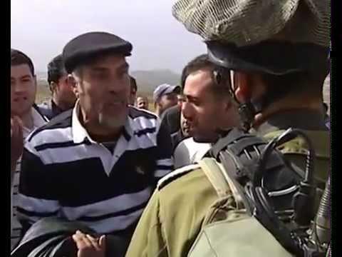 حوار مضحك بين رجل فلسطيني و جندي اسرائيلي