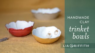 DIY Trinket Clay Bowl