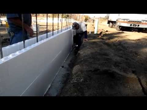 Fox Blocks project how to level first courses of Insulated Concrete Forms