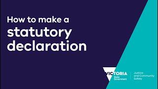 How to make a statutory declaration