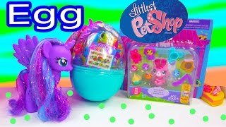 LPS Bunny Easter Egg Surprise Littlest Pet Shop MLP Princess Luna Toy Unboxing Review Video