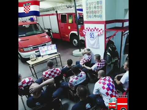 Croatian Firefighters Can't Watch last Penalty