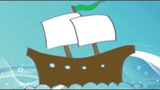 Dibujos de transportes para niños. Cómo dibujar un navio