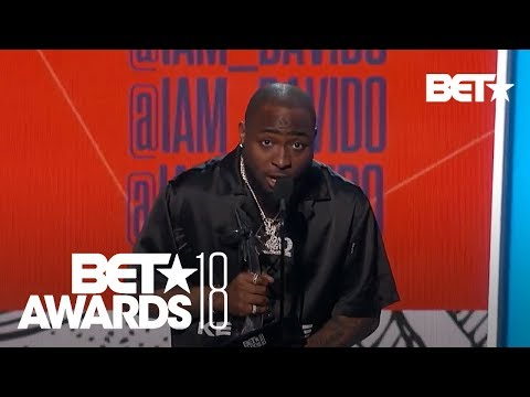 Davido Wins Award for Best International Act for Nigeria! | BET Awards 2018