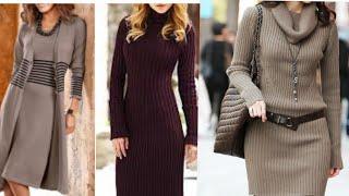 Latest Winterwear One Piece Dress Ideas   Long Dresses   Winterwear Latest Fasion