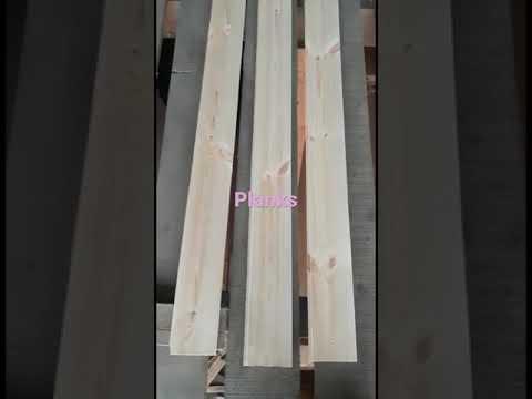 Brown Pine Wood Plank