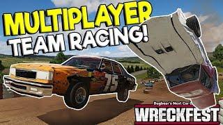 INSANE MULTIPLAYER TEAM RACING & HUGE CRASHES! - Next Car Game: Wreckfest Gameplay w/ Spycakes & OB!