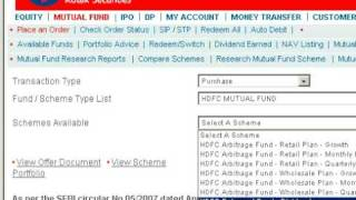 place mutual fund order kotak securities