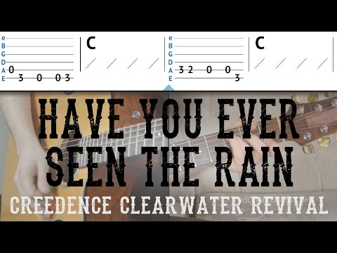 """Have You Ever Seen The Rain"" Guitar Tutorial - CCR 