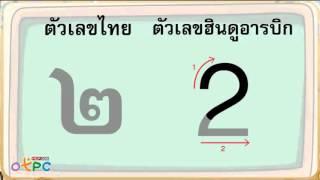 สื่อการเรียนการสอน ฝึกเขียน เลขไทยและเลขฮินดูอารบิก ป.2 ภาษาไทย