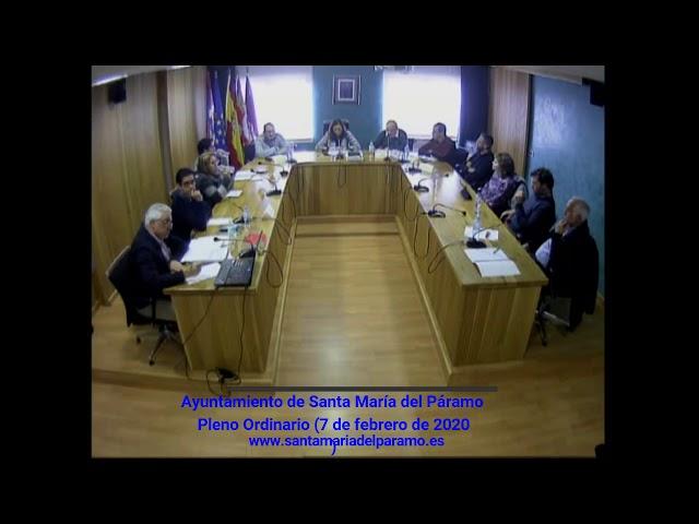 Pleno Ordinario (07 de febrero de 2020)