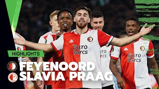 Our first group stage game at home ? | Highlights Feyenoord - Slavia Praag | Conference League