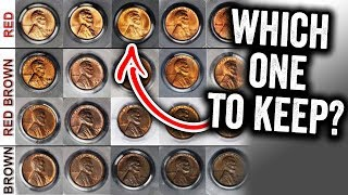 RED PENNY VS BROWN PENNIES - COINS TO LOOK FOR IN CHANGE