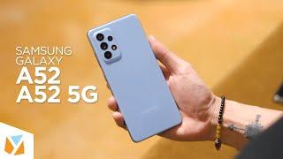 Samsung Galaxy A52 and Samsung Galaxy A52 5G Hands-On