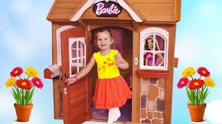 Kids Playroom Lady Land with houses and dolls Barbie