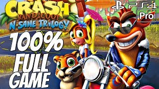 Crash Bandicoot 3 Warped (PS4) - Gameplay Walkthrough 100% Complete All Boxes, All Gems, All Relics
