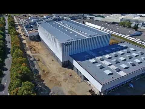 September 2018 - Baufortschritt Gira Produktions-, Entwicklungs- und Logistikzentrum