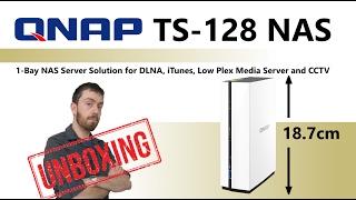 The QNAP TS-128 1-Bay Cost Effective NAS Unboxing, Walkthrough and Talkthrough