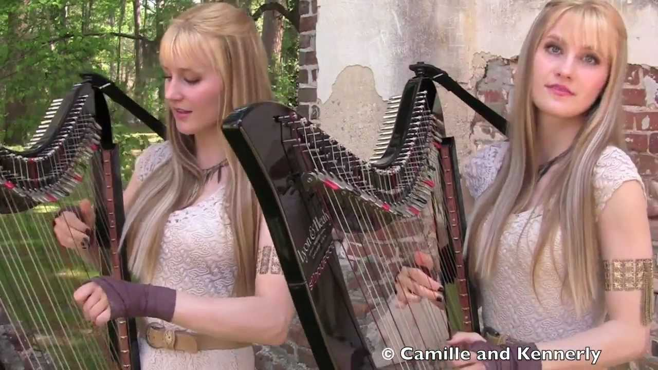 The Game Of Thrones Theme, Performed By Two Ladies With Electric Harps