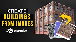How To Create Buildings From Images In Blender 2.8 (Game Art)