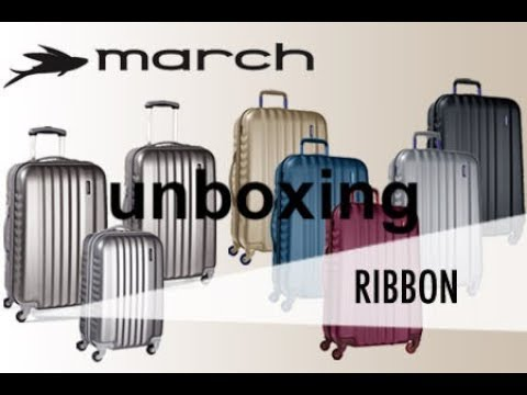MARCH RIBBON SPINNER TROLLEY SUITCASE