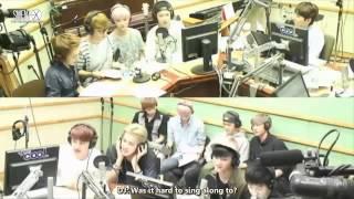 [ENG SUB] 130813 EXO at Sukira [Growl, Wolf, Peter Pan, History -- edited lyrics]