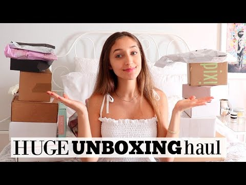 HUGE UNBOXING HAUL! PR Packages & Online Shopping
