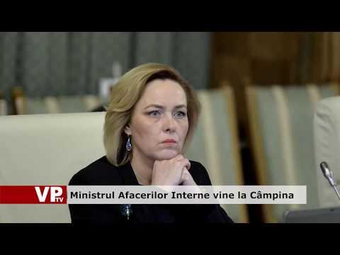 Ministrul Afacerilor Interne vine la Câmpina