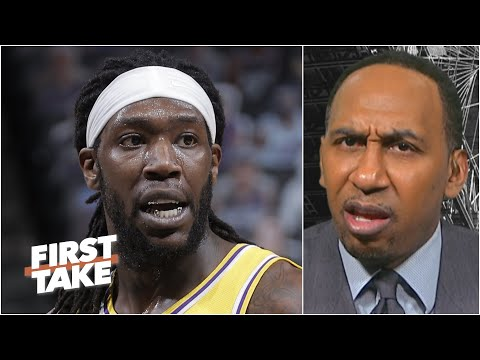 Montrezl Harrell's technical for yelling 'And-1' sets off Stephen A. on NBA officiating | First Take