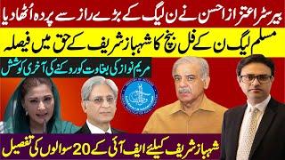 Aitaz Ahsan against PMLN || FIA sends questionnaire to Shahbaz in fake accounts || Maryam Nawaz
