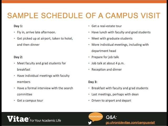 Preparing for Your Campus Visit