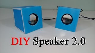 How to build a 2.0 speaker mini for yourself