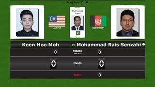 Snooker 6 reds 1/2 Final : Keen Hoo Moh vs Mohammad Rais Senzahi
