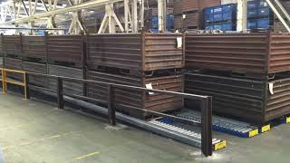 Euroroll removal of steel racks