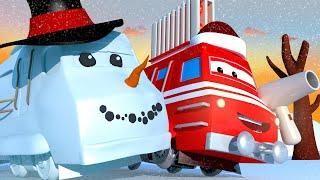 Vláčky pro děti - Horkovzdušný vlak Troy bojuje se sněžnou příšerou