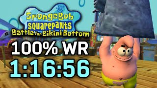 SpongeBob SquarePants: Battle For Bikini Bottom 100% Speedrun In 1:16:56 (WR On 8/6/2020)