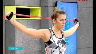 full body workout using a resistance band