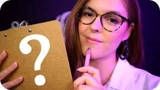 ASMR Asking You EXTREMELY PERSONAL Questions 🖊️🧐 (Pen Writing, Whisper, Storm)