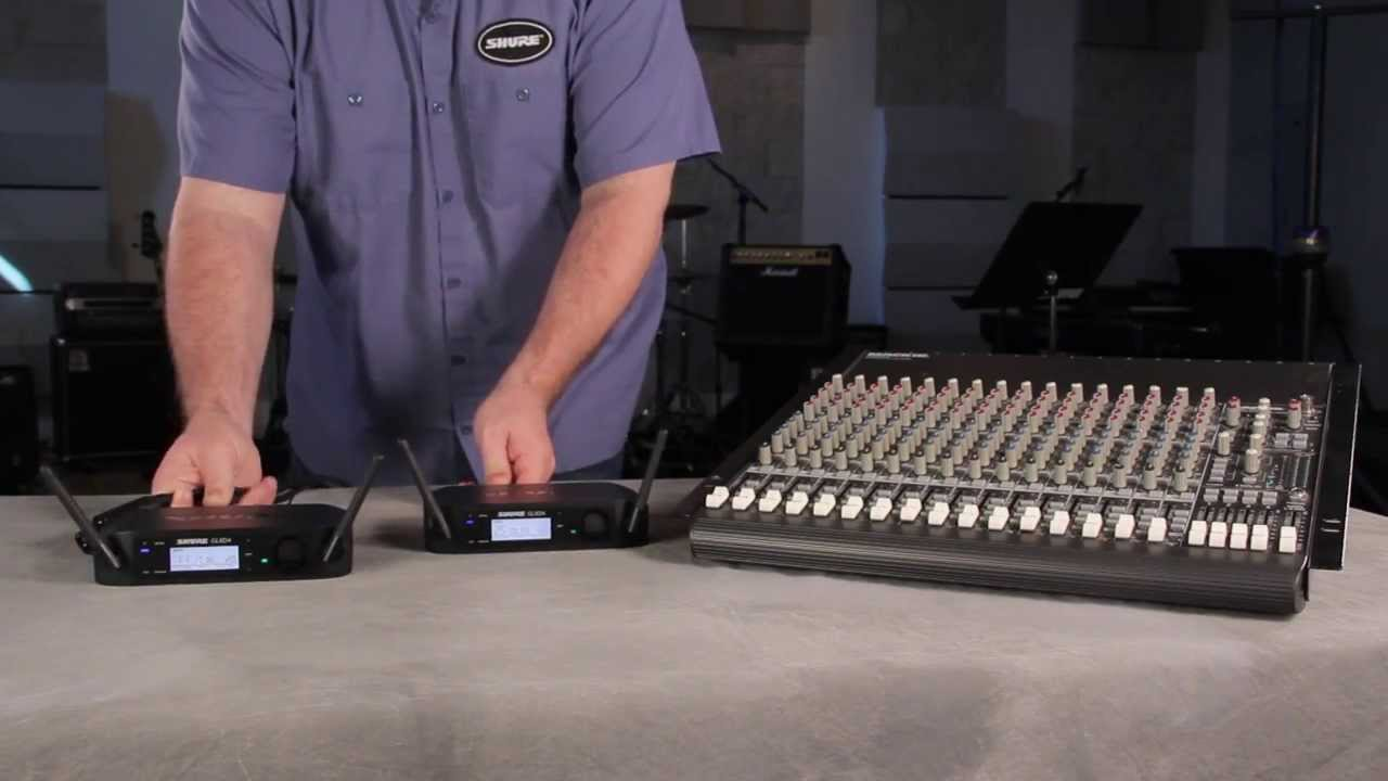Shure GLX-D Digital Wireless System: Scan and Frequency Change