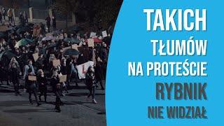 INFO RYBNIK 27.10.2020r  Protest przeciwko zaostrzeniu aborcji w Rybniku