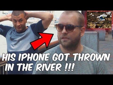 Трюк иллюзиониста с утонувшим в реке iPhone