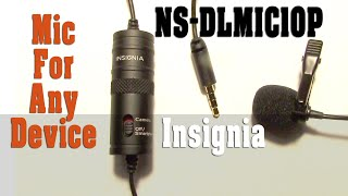 Best Buy Insignia Universal Lapel Mic Review - Best Lavalier Mic I've Tried -Works on Everything