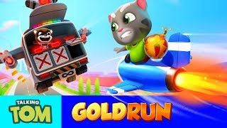 BOSS FIGHT in the Sky - Talking Tom Gold Run (NEW Game Update)
