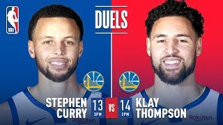 Two HISTORIC Performances - Steph Curry's 13 Threes in 2016 & Klay's 14 Threes in 2018 | NBA Duels