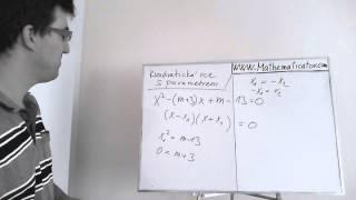 Rovnice s parametrem - Kvadratická - Určete hodnotu parametru aby řešení splňovalo podmínku