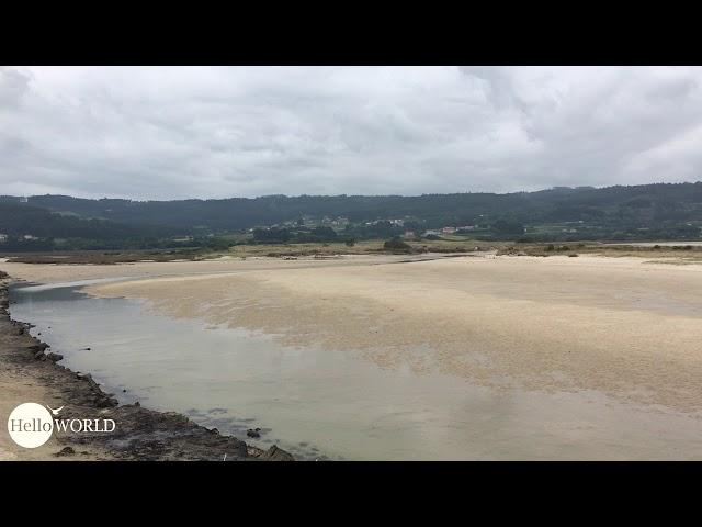 Blick über die Lagoa de Baldaio