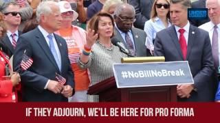 Nancy Pelosi #NoBillNoBreak Press Conference